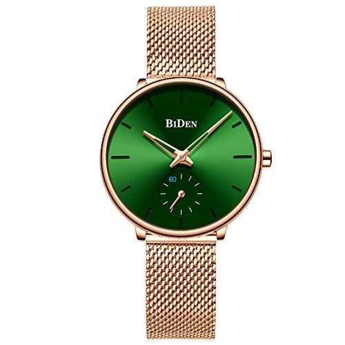 Womens Watch Fashion Luxury Dress Simple Designer Analog Watches Stainless Steel Mesh Minimalist Quartz Ultra Thin Watch - Watch Dress Designer