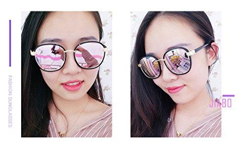 Sombra C6 Espejo los Resistente Rayos a Ms con Gafas Sol Color Redonda Metal polarizada Personalidad luz UV de Cara vértigo Driver Anti Ai lele C2 w7qT6FS