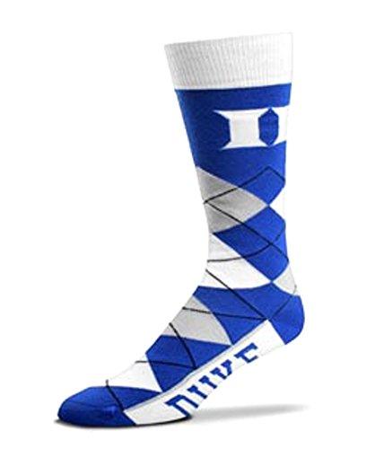 Duke Blue Devils Argyle Crew Dress Socks Duke Blue Devils Ice