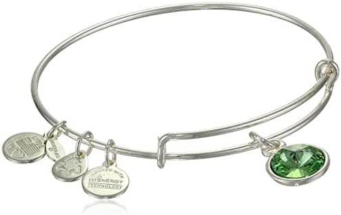 Alex and Ani Bangle Bar Imitation Birthstone Bangle Bracelet, 7.75