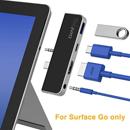 CharJenPro Surface Go Docking Station, HDMI 4K, USB 3.0, USB C Power Delivery Port, 3.5mm Audio/Headphone Jack Surface Go USB C Hub, Surface Stick ()