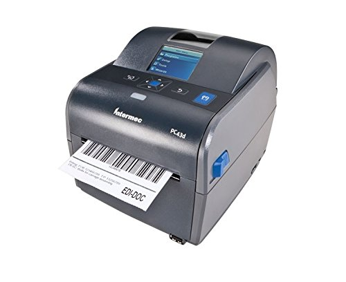 Intermec PC43d Desktop Direct Thermal Label Printer with LCD Display and USB, Easy-to-Use Barcode Label Printer with 4 Rolls of 4
