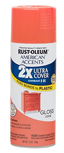 Coral Spray - Rust-Oleum 285024 American Accents Ultra Cover 2X Gloss, Each, Coral