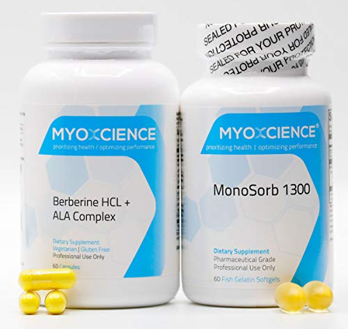Autophagy Enhancer Bundle | Berberine HCl Alpha Lipoic Acid Extra Strength Omega-3 Fatty Acids DHA & EPA Alpha Lipoic Acid Enhancer