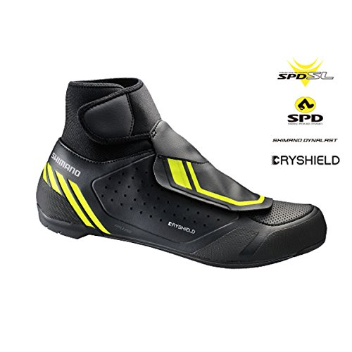 SHIMANO 2018 Men's Performance Winter Road Cycling Shoes - SH-RW500 (Black - 48)