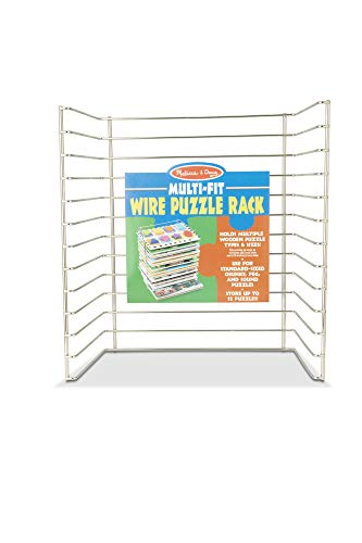 Melissa & Doug Multi-Fit Metal Wire Puzzle Rack Forup to A Dozen 12
