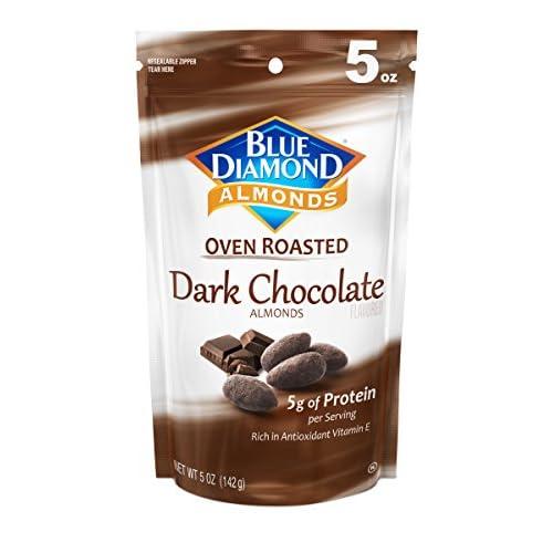 Blue Diamond Oven Roasted Almonds, Dark Chocolate, 5 Ounce