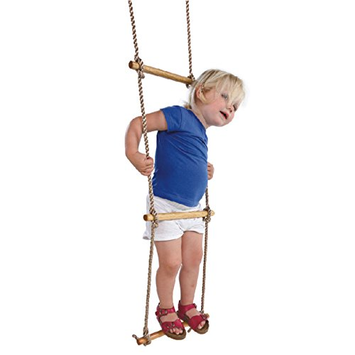 VIPASNAM-5-RUNGS ROPE LADDER Indoor/Outdoor Sturdy Wood Kids Childrens Play Swing Seat