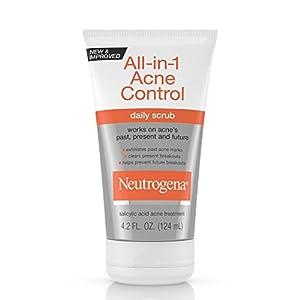 Neutrogena All-In-1 Acne Control Daily Scrub, Acne Treatment 4.2 Fl. Oz. (Pack of 3)