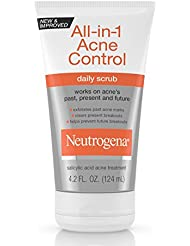 Neutrogena All-In-1 Acne Control Daily Face Scrub to...