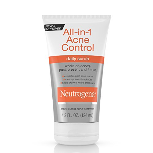 Neutrogena All-In-1 Acne Control Daily Face Scrub to Exfoliate and Treat Acne, Salicylic Acid Acne Treatment, 4.2 fl. Oz (Pack of ()