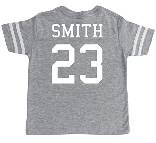 Custom Cotton Football Sport Jersey Toddler & Child Personalized with Name and Number (10/12 (Medium), Vintage Heather) -