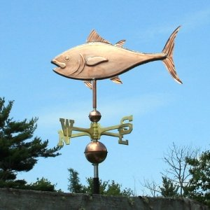COPPER TUNA FISH WEATHERVANE MADE IN USA (Atlantic Tuna)