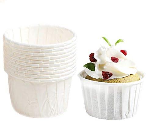 [スポンサー プロダクト]Dream DIY マフィンカップ 50枚 カップケーキ型 紙 ベーキングカップ 紙製ケーキカップ 多色選べる DIY 製菓用品 耐熱 防水(本色)