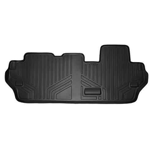 SMARTLINER Floor Mats 3rd Row Liner Black for 2011-2018 Toyota Sienna 8 Passenger Model Only