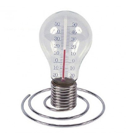 Lightbulb Desktop Thermometer