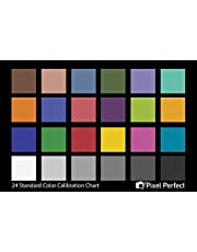 """Pixel Perfect Camera Colour Correction Card - 4"""" x 6"""" for Photo and Video - Reference Tool Grey Card Target White Balance Exposure Temperature Colour Calibration Chart"""