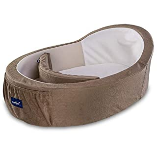 Mumbelli – The only Womb-Like and Adjustable Infant Bed; Patented Design (Taupe). Safety Tested, Portable and Suitable for co Sleeping. Reflux Wedge and Carry Bag Included.