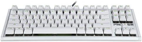 Danankan ゲーミングキーボード LEDバックライト付き 防水 usb有線付き キー防衝突 (87キー) (Color : ホワイト)