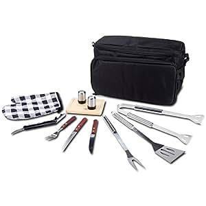 Premium 12 pc Complete Picnic BBQ Set with Cooler Bag