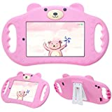 pzoz Tablet Case for Kids Compatible with F ir e 7 Tablet 7in Shock Proof Handle Protector Stand Girls Boys 7inch Cover for Tablet 7 inch 7th Edition Generation 2017 Release (Pink)
