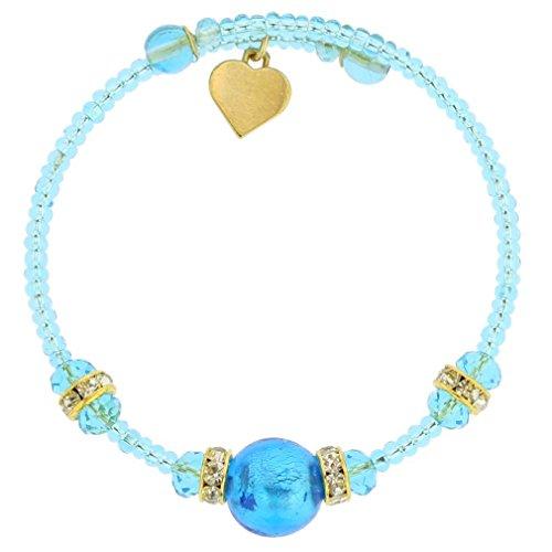 GlassOfVenice Carino Murano Glass Bracelet - Aqua (Bracelets Murano Aqua)
