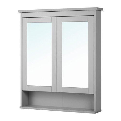 Ikea Mirror cabinet with 2 doors, gray 32 5/8x6 1/4x38 5/8 -