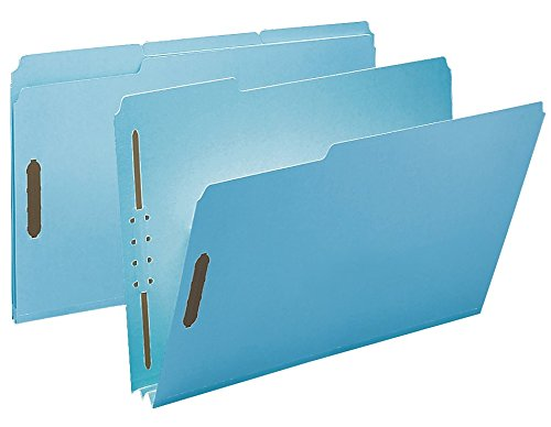 Smead 100% Recycled Pressboard Fastener File Folder, 2 Fasteners, 1/3-Cut Tab, 2