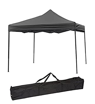 Trademark Innovations Lightweight And Portable Canopy Tent Set   Black Canopy  Cover
