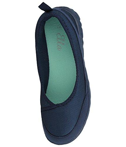 Ballerines Ella À Confortables De En T Pour Mousse Semelle Taille Mémoire Navy Maille Chaussures 41 Plates Forme Tissu Femme 35 8w566q