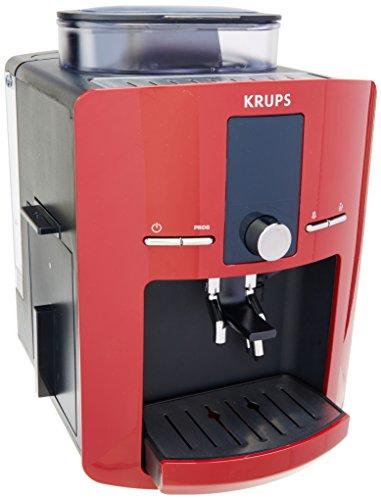 Krups EA825511 Cafetera Espresso Espresseria Automática, Digital y Programable, Color Rojo
