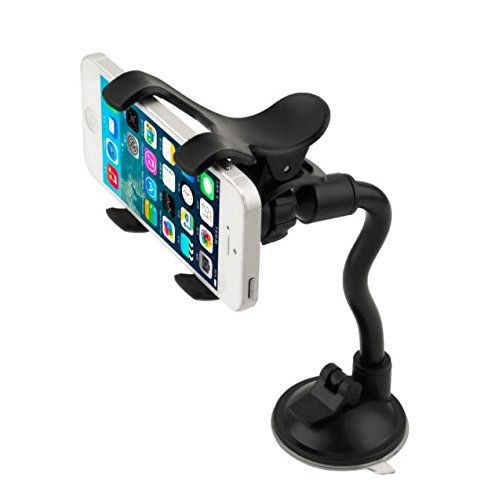 PiGGyB Universal Car Mount Holder Cradle Dragon Grip with CREEPER CRAWLER For Samsung Galaxy Note 4 Note 3 Note 2 Galaxy S5 S4 Apple iPhone 4 4S 5 5S 5C 6 4.7inch 6 Plus 5(Black Creeper)