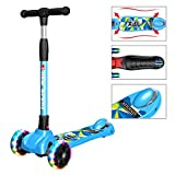 New Olym Kick Scooter for Kids 3 Wheel Toddler Scooter for Boys Girls Folding Mini Scooter with Safety Brake for Children Ages 3-12 Years