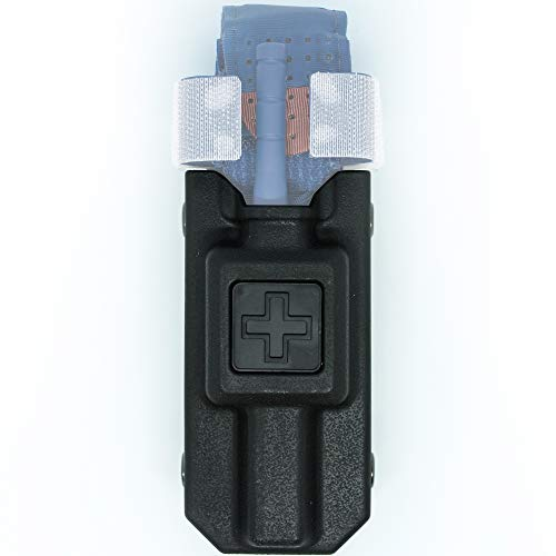 Aid&Aim Tactical Tourniquet Holder Pouch for CAT Combat Application Tourniquet Gen 7 or Older- Holster Case with Molle Clip Fits Molle Equipment,Police Gear, Duty and Utility Belt up to 2.5
