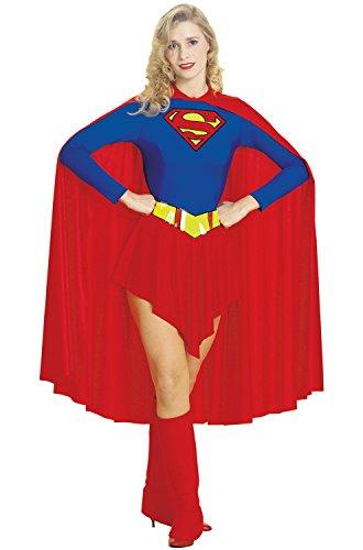 Adult's Womens Superman Supergirl Leotard Costume Size Small 6-10 (Superman Leotard)