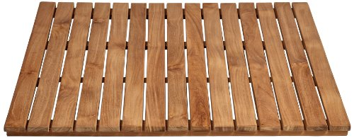 Arb Teak & Specialties Teak Shower Base Mat, 30 X 30 Inch Patina Patina 30 Trees