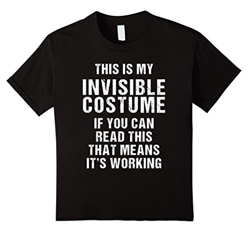 Invisible Woman 90's Costume (Kids My Invisible Costume Halloween T Shirt funny men women kids 12 Black)