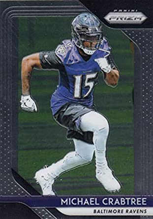 2018 Panini Prizm Football  187 Michael Crabtree Baltimore Ravens Official  NFL Trading Card 621111102