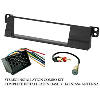 41NnOsgTzSL._SL500_AC_SS350_ amazon com bmw stereo wiring harness, dash install kit e46 radio wiring harness 17 pin or 40 at crackthecode.co