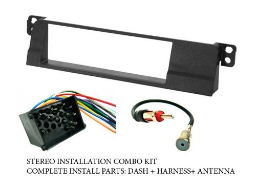 com bmw stereo wiring harness dash install kit com bmw stereo wiring harness dash install kit faceplate fm antenna adaptor combo complete aftermarket stereo wire and installation kit