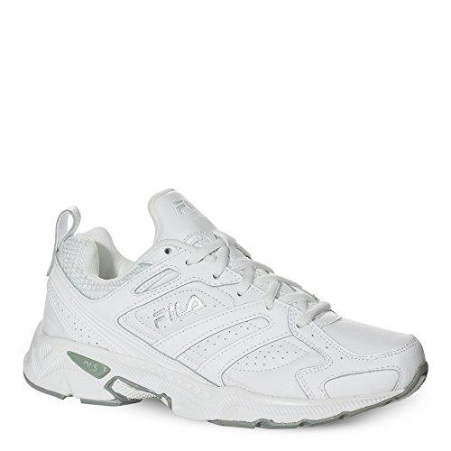 Sneakers White Fila (Fila Women's Capture Running Shoe,White/White/Metallic Silver,9 M US)