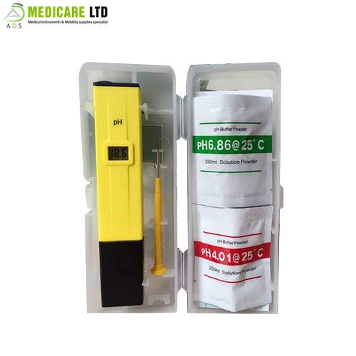 ADS Medicare Digital pH Meter Water Tester for Lab and Home Use CE Approved