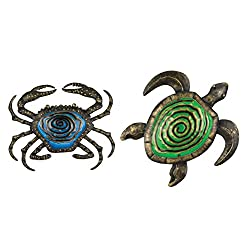 Regal Art & Gift Bronze Wall Décor - Blue Crab & Green Turtle