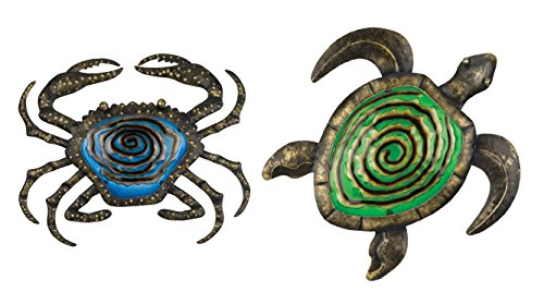Regal Art & Gift Bronze Wall Décor - Blue Crab & Green Turtle
