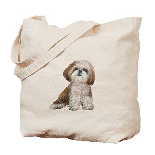Shih Tzu Tote (CafePress - Shih Tzu (Red-Wte) - Natural Canvas Tote Bag, Cloth Shopping Bag)