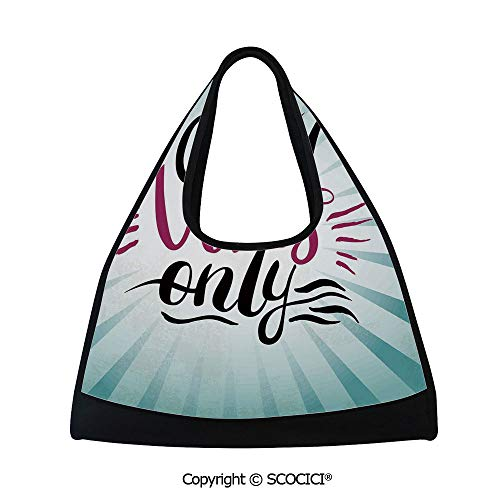 Badminton bag,Retro Radial Composition Abstract Sunburst Hand Lettering Typography Decorative,Easy to Carry(18.5x6.7x20 in) Teal Black Magenta ()
