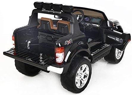 8 Ans 4 x Moteur 45W t/él/écommande 2,4GHz RIRICAR Voiture /électrique Enfant 4x4 Ford Ranger Wildtrak Batterie 2x12V7Ah 2 Places Peint Noir 24 Mois