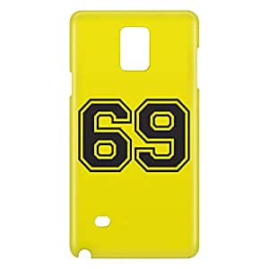 Loud Universe Galaxy Note 4 Number 69 Print 3D Wrap Around Case - Yellow