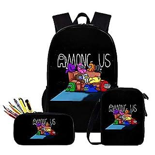 Among Us Backpack, Among Us Shoulder Bag, Among Us Pen Case - Set 3 Among Us Waterproof Bags for Boy, Girl, Men and Women Style 12