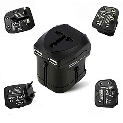 Universal Enchufe Adaptador de Viaje UK US AU EU Mundo Internacional Convertidor .Travel plug USB conversion plug multi-country conversion plug (Best Budget Hair Straightener)